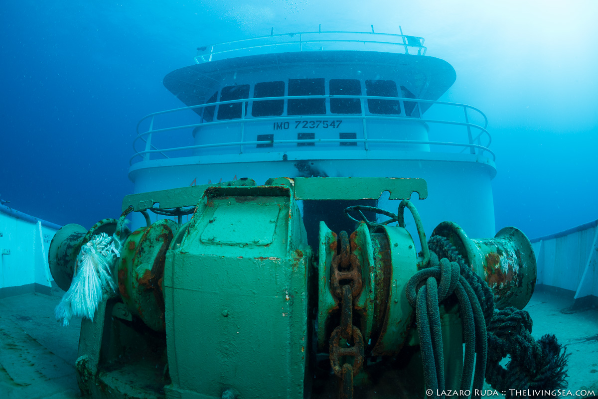 Wheel house of the Ana Cecilia wreck
