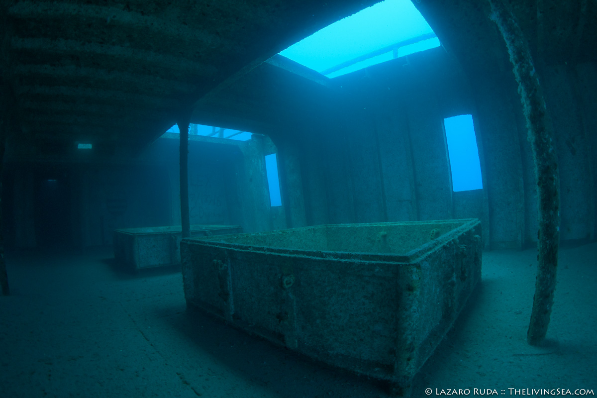 Anna Cecilia wreck interior